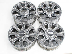 Blinding Chrome 2017 2020 18 Oem Ford F 250 F 350 Factory Chrome Alloy Wheels