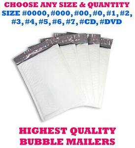 Any Size Poly Bubble Mailers Shipping Mailing Bags Padded Envelopes Self seal