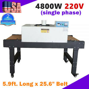T shirt Screen Printing Conveyor Tunnel Dryer 5 9ft Long X 25 6 Belt Screen