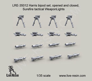 Live Resin 1 35 LRE 35012 Harris Bipod Set Surefire Tactical Weapon Lights $18.99