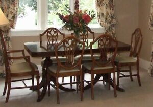 Vintage Duncan Phyfe Dining Room Set Antique Table 6 Chairs Mahogany