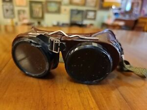 Vintage Welding Goggles Welsh Mfg Co Steampunk Glasses Type B Usa
