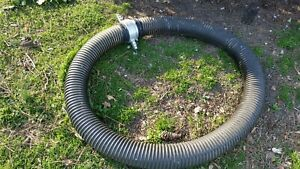 Hard Suction Water Hose Pvc Clear Black Flexible 3 Id X 10 Ft Long Handle