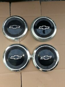 Chevrolet Dog Dish Hubcaps Truck Van 1984 91 10 1 2 Set Of 4 Used