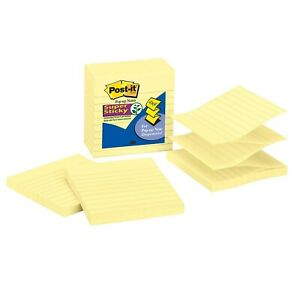 Post it Super Sticky Pop up Notes 4 In X 4 In 5 Pads 2x The Sticking Power