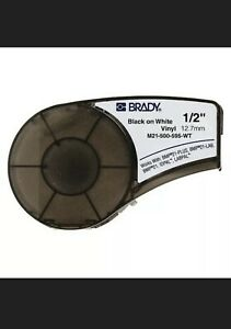 Brady M21 500 595 wt Label Tape Cartridge Black white Labels roll Continuous