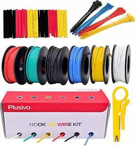 22awg Silicone Hook Up Wire 22 Gauge Stranded Tinned Copper Wire With 6 Red