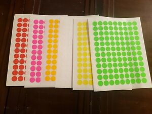 648 Blank Garage Yard Sale Rummage Stickers Labels Price Tags 6 Colors Sale 6
