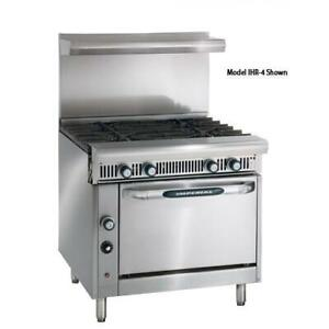 Imperial Ihr 4 c 36 In 4 burner Diamond Series Gas Range W Convection Oven