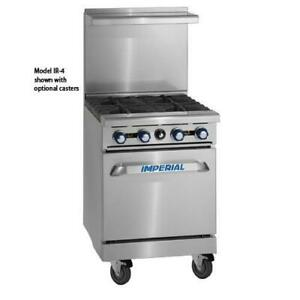 Imperial Ir 2 g12 24 In 2 burner Gas Range W Griddle And Standard Oven