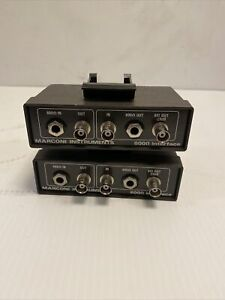 Lot Of 2 Marconi Instruments 600ohm Interface 54411 052m