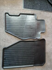 1999 2003 Acura Tl All Weather Rubber Floor Mats 2pc Oem Genuine 99 00 01 02 03