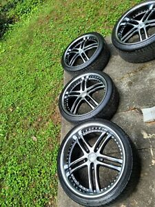 Staggered 20 Inch Rims And Continental Tires 245 35 Front And 275 30 Rear