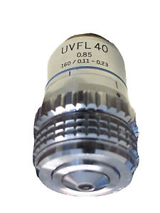 Olympus Uvfl 40 85 160 0 11 To 0 23 Microscope Objective Japan