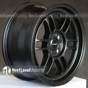 Circuit Cp37 15x7 4 100 28 Flat Black Wheels Rpf1 Style Fits Acura Integra Dc2