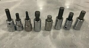 Snap on Matco Craftsman Sk Mac Sae Metric Hex Allen Key Bit Sockets 3 8 Drive