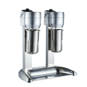 Classic Milkshake Machine Maker Ice Cream Mixer Smoothie Frappe Double Head