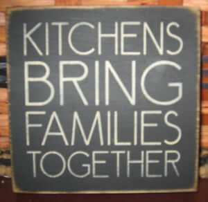 Primitive Country Kitchens Bring Families Together Mini Sq Sign