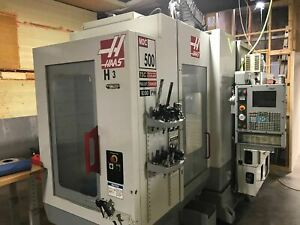 Haas Mdc 500 Cnc Mill 2004 Through Spindle Coolant High Speed Machining