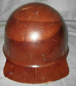 1950 s Vintage Msa Fiberglass Hard Hat Skullgard Mine Safety Good Liner Vgc
