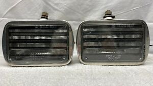 Vintage 2 Per lux Louvered Fog Driving Lights Model 600 r Stainless Steel