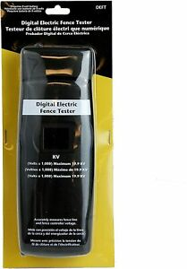 Zareba Deft z Digital Electric Fence Tester Black