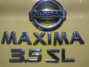 Nissan Maxima Sl 3 5 Lettering Emblems With Logo