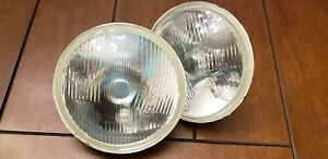 Vintage Bmw 02 2002 Tii 1600 E10 Glass H4 Front Headlights Pair 67 76 68 69 70