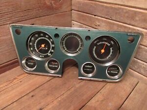 Original 1967 72 Chevy Gmc Truck Dash Cluster Speedometer Fuel Gauge