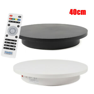 360 Electric Rotating Turntable Display Stand 40cm 40kg Remote Control