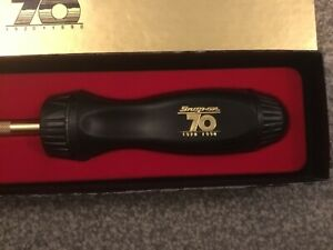 Snap On 70th Anniversary Ratchet Screwdriver Rare Gold Lettering