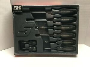 Snap On 100th Anniversary 8 Pc Soft Grip Combination Screwdriver Set Sgdx80bdtx