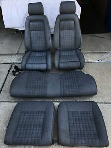 87 93 88 89 Ford Mustang Gt Hatchback Gray Cloth Tweed Factory Front Rear Seats