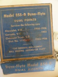 Dyna Flyte 855 d Dual Point Distributor Plate 1955 56 Chevy