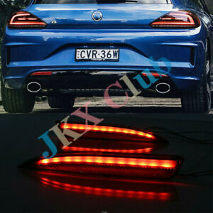 Pair Led Rear Bumper Tail Light J Fit For Vw Scirocco R 2011 15 Brake Warn Lamp