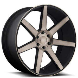 4ea 24 Dub Wheels Future S127 Black Machined With Dark Tint Rims S45