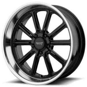 4ea 17 Staggered American Racing Wheels Vn507 Rodder Gloss Black Rims s42