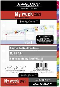 2021 At a glance Weekly Monthly Planner Refill 52122 kd81 285y 21 New