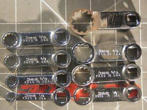 1 Modified Snap On 8pc 3 8 Dr Spline Torque Adapter Set 1 4 3 4 Fres Fres8