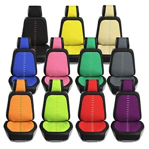 Universal Fit Ultra Car Seat Cushions With Colorful Stitching Front Set