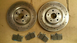 Used 31592 31593 Front 2 Pcs Drilled Brake Disc Rotor Free Brake Pad 71