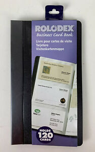 Rolodex Vinyl Business Card Book 120 Card Capacity 20 Pages Black New