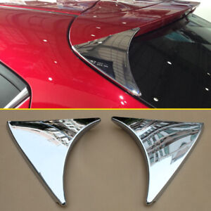 Rear Spoiler Trims For Mazda 3 Hatchback 2014 2018 Chrome Wing Accessories