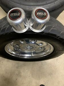 15x3 Weld Drag Lites These Are Mounted On Mickey Thompson Radial Srs