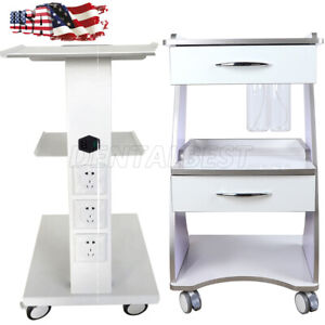 Mobile Metal Built in Socket Tool Cart Trolley Auto water Bottle Supply System