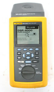 Fluke Dsp 4000 Cable Analyzer With Dsp lia012 Channel Adapter