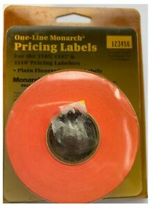 One line Monarch Pricing Labels 1105 07 10 Pricing Labeler 925037 Red 3 Rolls
