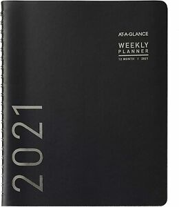 2021 At a glance 70 950x 05 Weekly monthly Planner 8 1 4 X 11 Black New