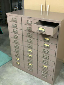 Organizing Filing Steel Cabinet With 30 Drawers Made By Steelmaker 30x12x38