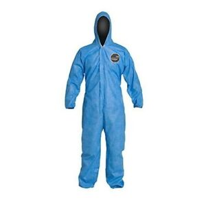 Dupont Proshield Pb127s Protective Coverall With Hood Size M Blue